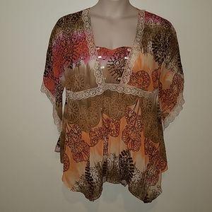 Dare to Wear romantic blouse, size 1x 14/14